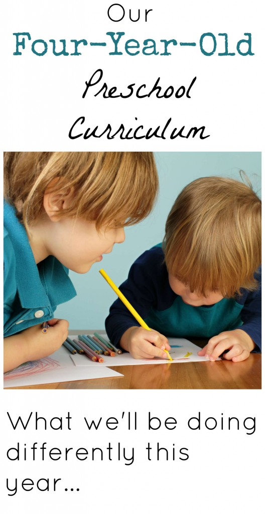 Four year old preschool curriculum