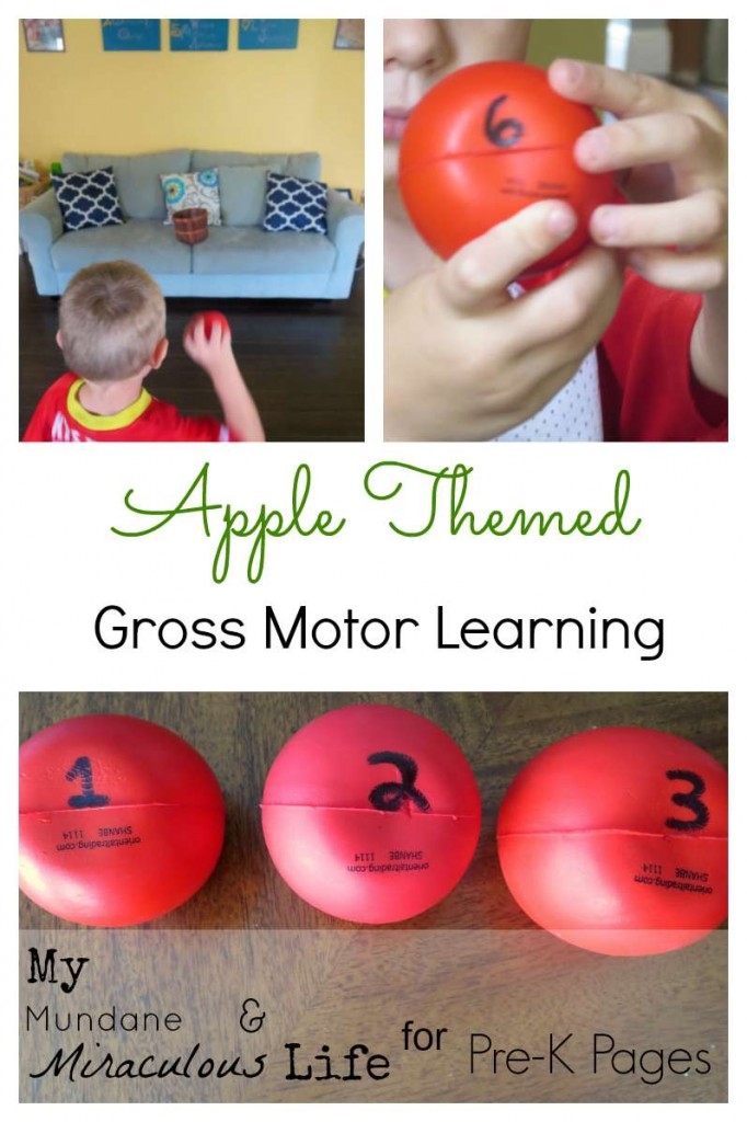 Apple Themed Gross Motor Learning