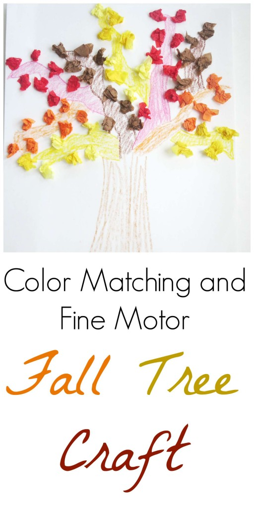 color matching fall tree craft