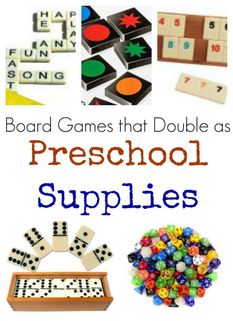 board games that can also be used in preschool