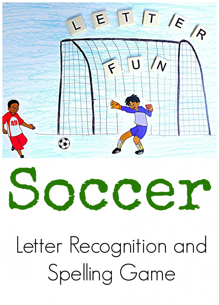 soccer letter recognition and spelling game