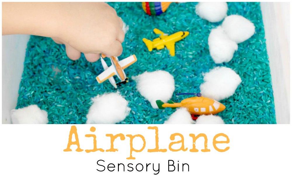 Airplane Sensory Bin FB
