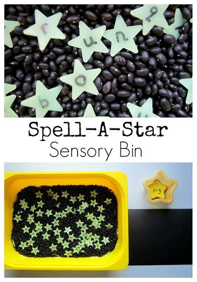 star CVC sensory bin 6