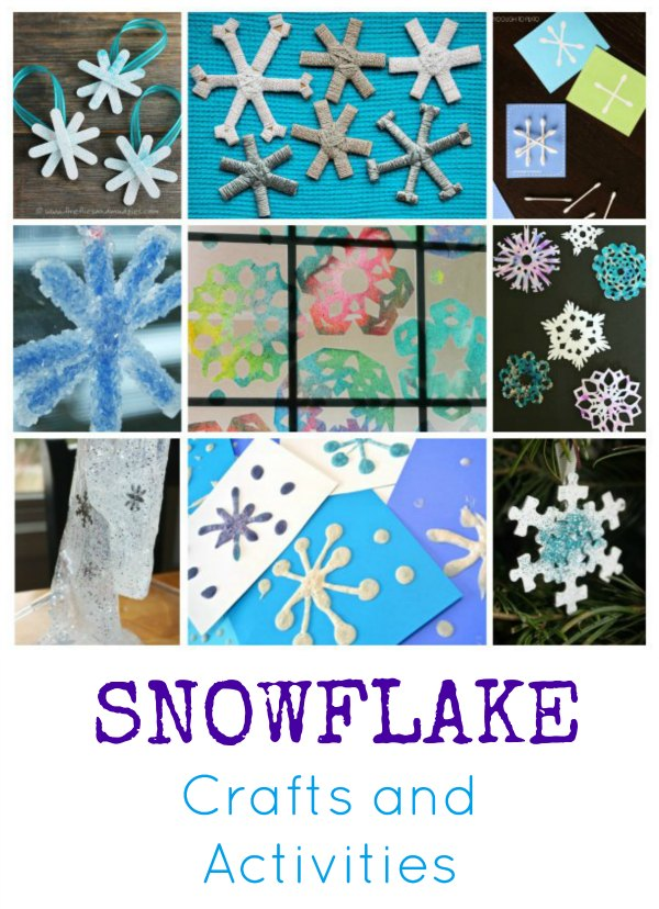 Snowflake Crafts and Activities Pin