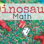 Dinosaur Sensory Bin: Counting and Math