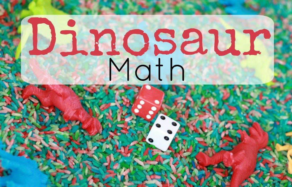 Dinosaur Sensory Bin Math