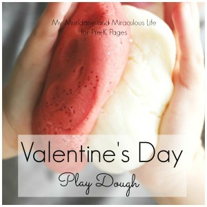 Play Dough Color Mixing: Valentine's Object Lesson