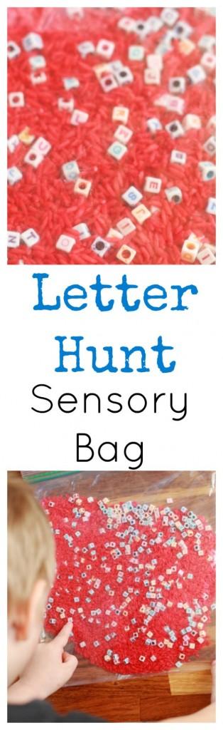Letter Hunt Sensory Bag