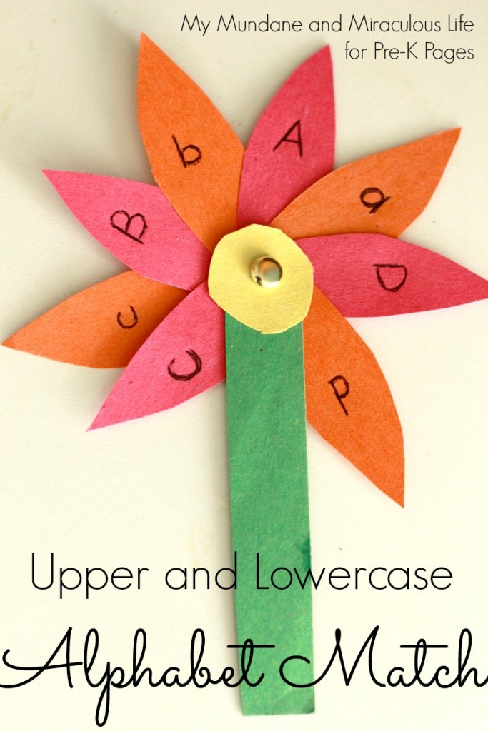 Pre K Pages Upper and Lowercase Alphabet Match