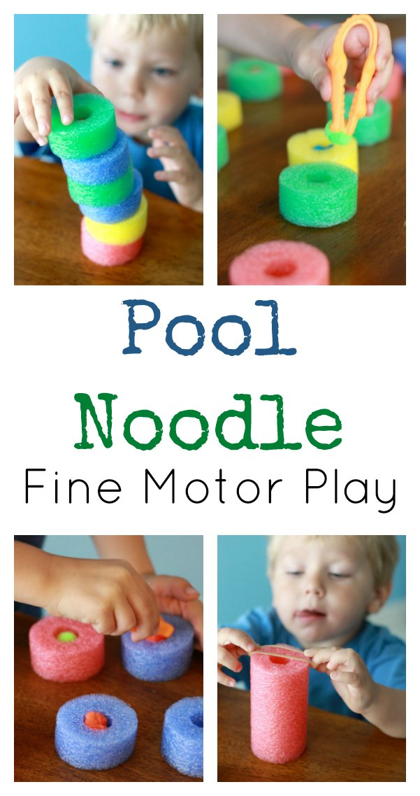 Pool Noodle Fine Motor Activities Pin