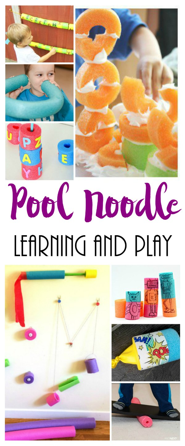 Pool Noodle Learning and Play Activities Pin