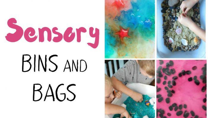 A HUGE List of Sensory Bins and Bags for Kids