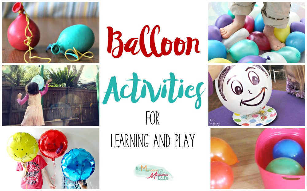 Balloon Activities for Learning and Play