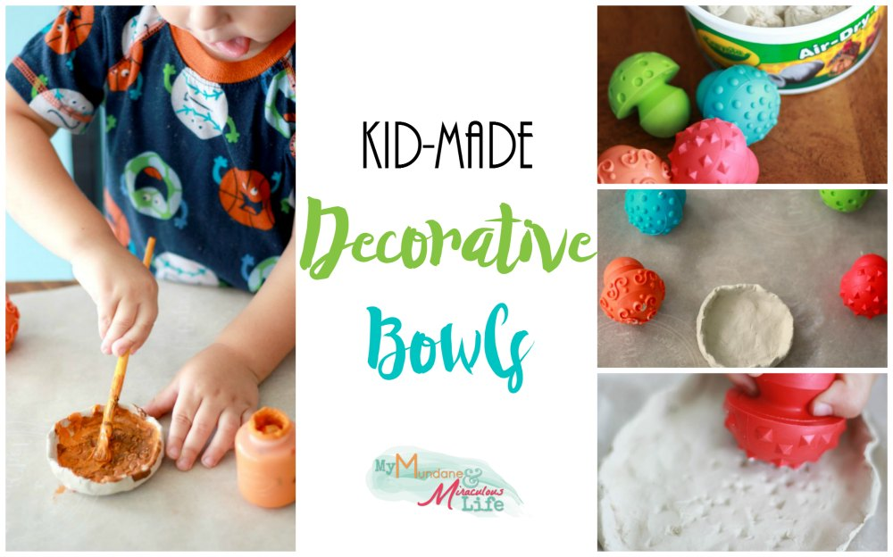Decorative Bowls Kids Make