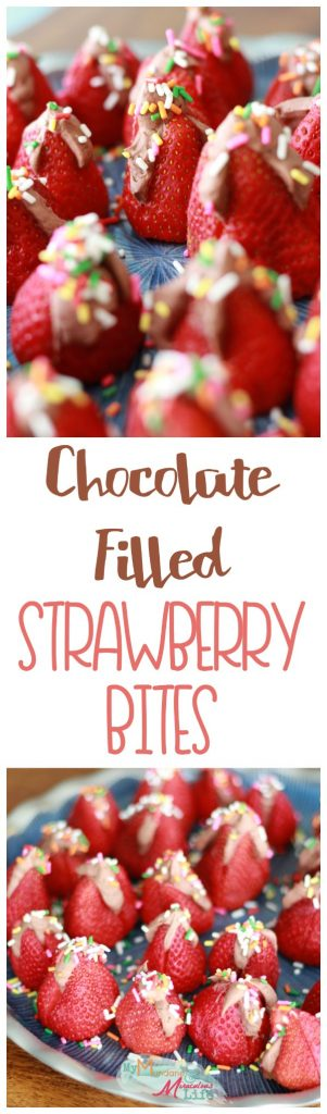 strawberry bites chocolate filled pin