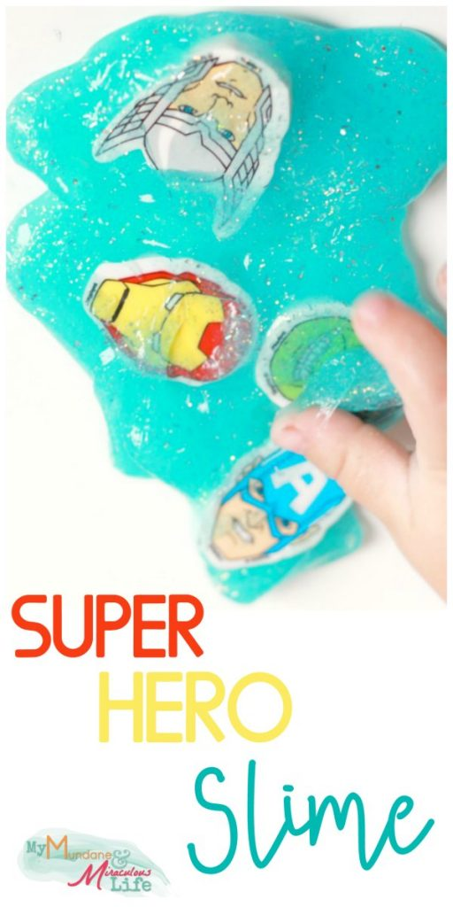 Superhero Slime recipe
