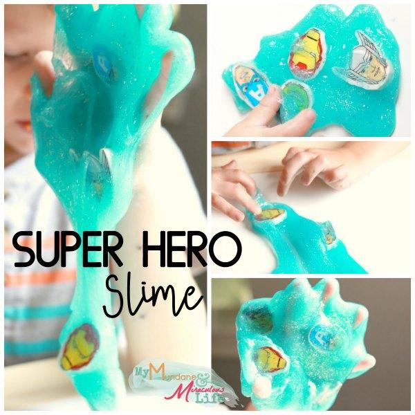 Superhero Slime recipe