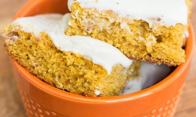 The Life Changing Pumpkin Bar Recipe with Cream Cheese Frosting