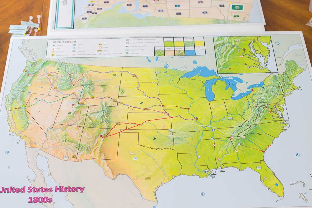 Fun And Simple Homeschool Geography Curriculum And Resources - Us-map-early-1800s