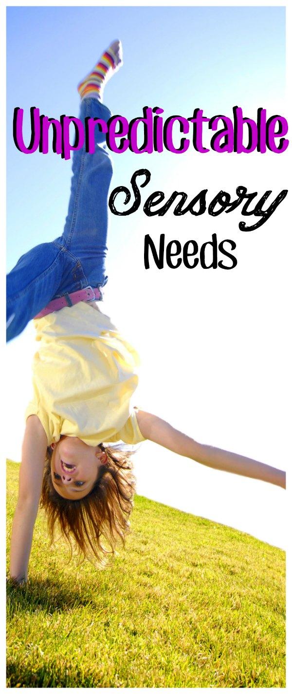 Child does a cartwheel across grass as to get sensory input