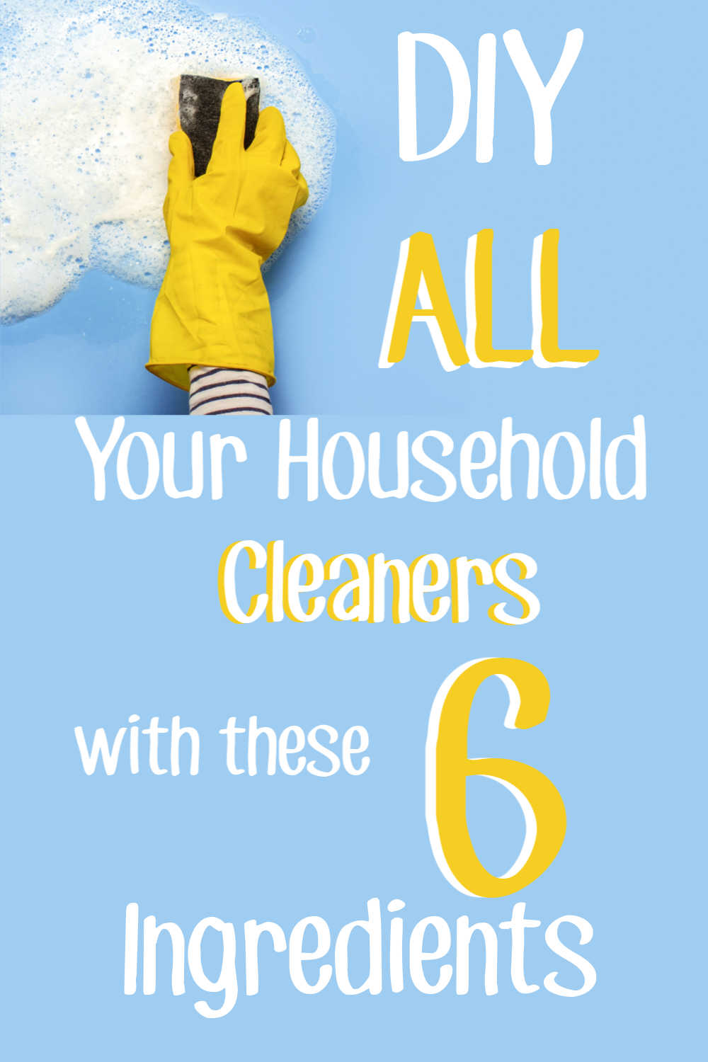 DIY All Your Toiletries and Cleaners with SIX Ingredients